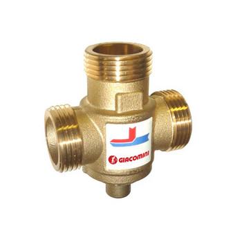 """R157A Термосмесительный клапан для твердотопливного котла 70гр. 1,25""""ППП  Giacomini"""