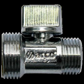 "L-88 Кран-мини прямой шаровой 1/2х3/4""ПП металл. ручка ARCO"