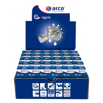 "Выставочная коробка с Z0912 Угловой шаровой кран 1/2х1/2""ПП 30 шт. ARCO"