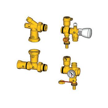 R557K Комплект арматуры для коллекторов теплого пола  Giacomini