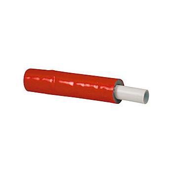 R999 Труба металлопластиковая PE-Xb/AL/PE-Xb  16x2,0 в изоляции 6мм-красная (100м)  Giacomini