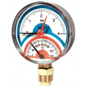 """Термоманометр радиальный TIRP80, 4bar, 120C, 1/2""""  Sitem"""