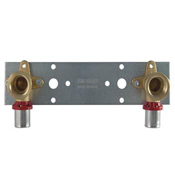 """1680C Пресс-уголок двойной с креплением 20x1/2""""M  TDM Brass"""